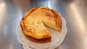 gebackener Käsekuchen - Stück 2,50 €