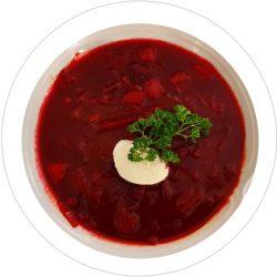 Borschtsch, russische Rote Bete Suppe
