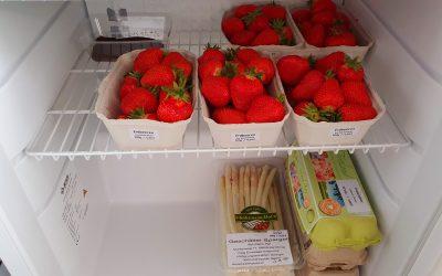 Erdbeeren, Spargel, Eier