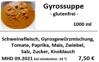 Gyrossuppe, glutenfrei