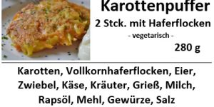 Karottenpuffer mit Haferflocken