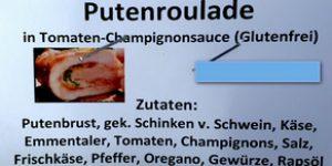 Putenroulade in Tomaten-Champignonsauce