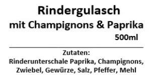 Rindergulasch mit Champignon & Paprika