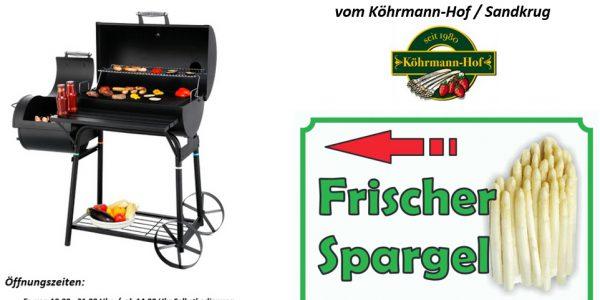 Schild Grillzeit & Spargelzeit