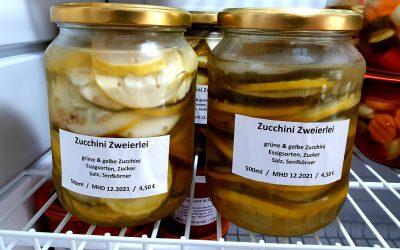 Zucchini-Zweierlei