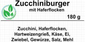 Zucchiniburger mit Haferflocken